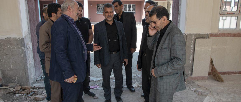 بازدید مهندس محمد نیا معاون فرماندار اردبیل و مهندس برزگر معاون آموزش و پرورش از پروژه  مدرسه حیات طیبه