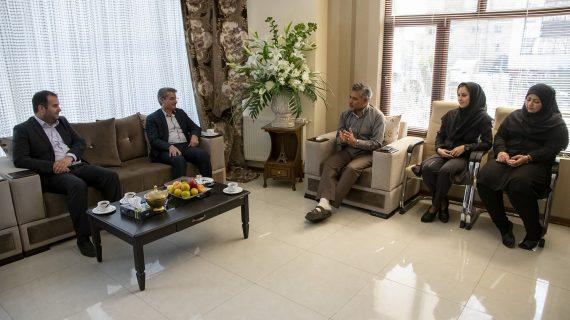 دیدار مدیریت شعب بانک توسه تعاون استان اردبیل با مهندس میرحبیب عزیز زاده