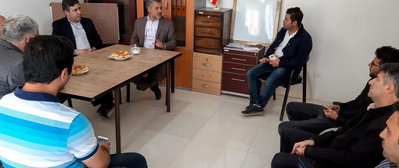 بازدید مهندس میرحبیب عزیززاده از پروژه مسکن مهر ( کوی وحدت )