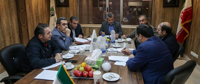 جلسه تودیع و معارفه مهندس میرحبیب عزیززاده به عنوان رئیس هیات مدیره انمجن شرکت های ساختمانی و تاسیساتی استان اردبیل