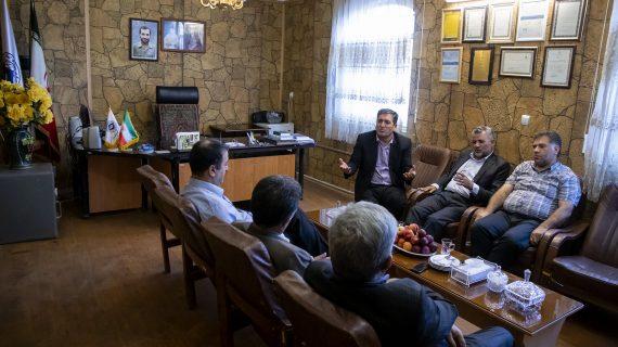 جلسه هیئت رئیسه اتاق تعاون با حضور مهندس میرحبیب عزیززاده و بازرسان