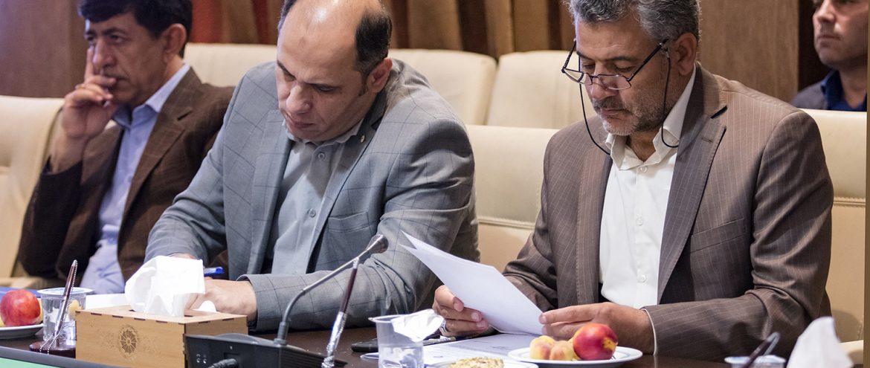 حضور مهندس میرحبیب عزیز زاده در جلسه شورای گفت و گوی دولت و بخش خصوصی در اتاق بازرگانی اردبیل