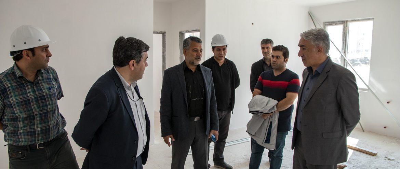 بازدید مهندس میرحبیب عزیززاده از پروژه  ۵۲۸ واحدی مسکن مهر کوی وحدت